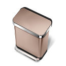 simplehuman 55L 免指紋不銹鋼長方腳踏垃圾桶 - 玫瑰金