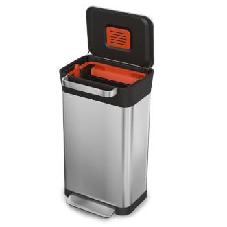 Joseph Joseph Titan 聰明環保壓縮垃圾桶 30L - 不銹鋼