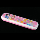 迪士尼公主粉紅色餐具盒