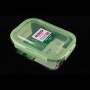 Asvel unix ware 1.1L 4Lock 玻璃密封食物盒 - 綠色