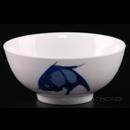 """加白藍鯉魚4.5""""企口碗"""