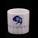 藍鯉魚茶杯