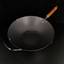 日本製窒化鐵鎚目單柄鑊33cm
