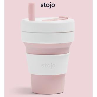 Stojo Biggie 環保可摺疊杯 16oz/470ml - 玫瑰粉紅