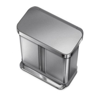 simplehuman 58L 免指紋不銹鋼長方環保垃圾桶