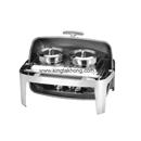 X32系列 1/1 長方形不銹鋼全翻蓋式自助餐爐,雙湯桶