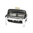 X32系列 1/1 長方形不銹鋼全翻蓋式自助餐爐 (鍍鈦手柄),雙食物盆