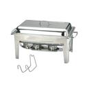 高级直腳 1/1 長方形不銹鋼自助餐爐,雙食物盆