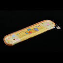 小熊維尼粉紅透明拉蓋餐具盒連(筷子、匙)