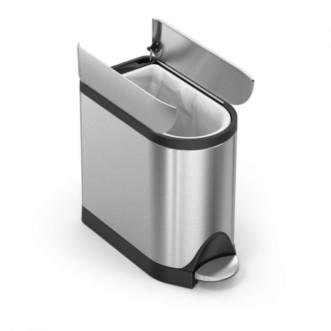 simplehuman 10L 免指蚊不銹鋼蝴蝶開蓋腳踏垃圾桶