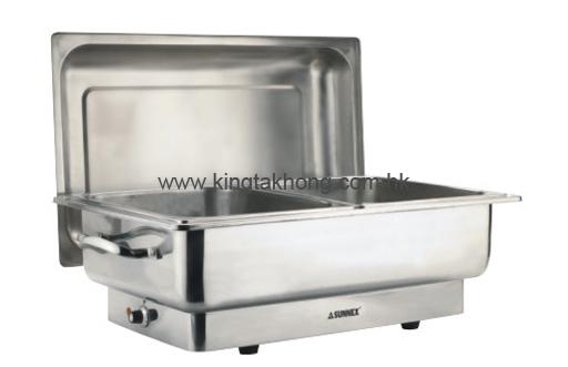 83系列 1/1 长方形不锈钢电热自助餐炉,双食物盆